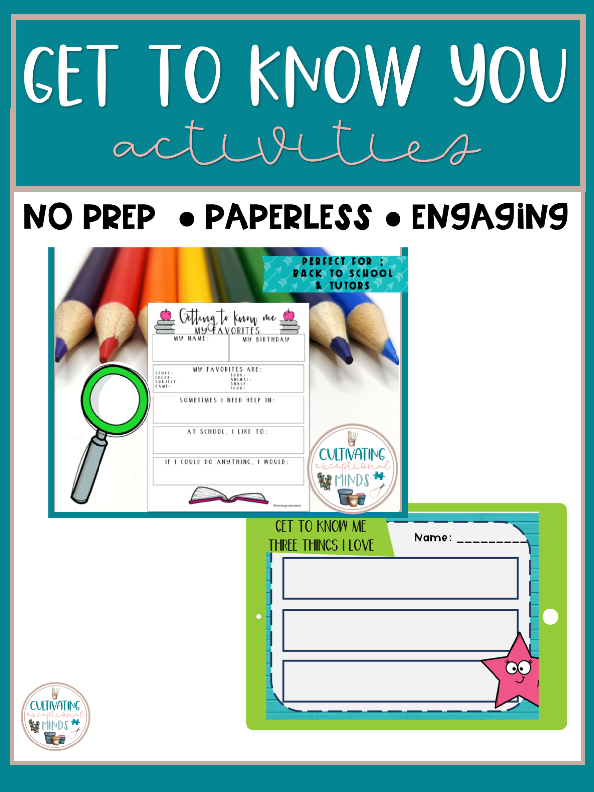 5 Get To Know You Activities