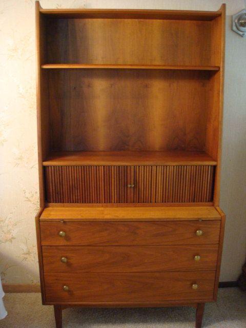 Barker Brothers Mid Century Secretary Desk Book Case On Etsy 400 00 Vintage Desk Secretary Desks Bookcase