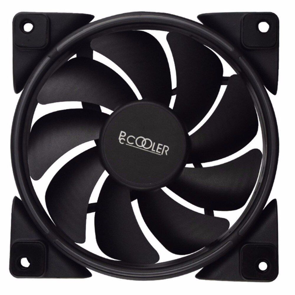 Pccooler 12cm Rgb Led Light Pc Cooling Fan Smart 4 Pin Pwm Quiet