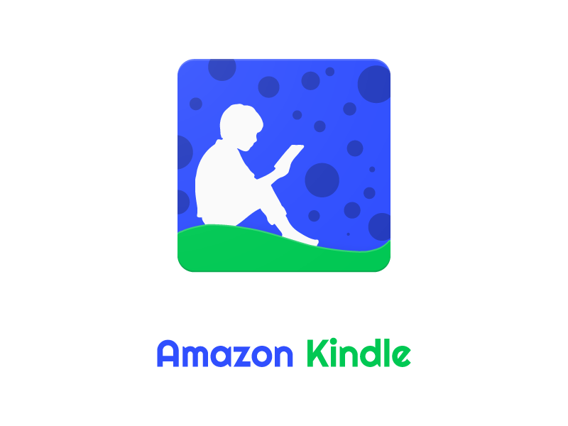 Amazon Kindle Redesigned Material Design Icon Amazon Kindle Icon Design Material Design