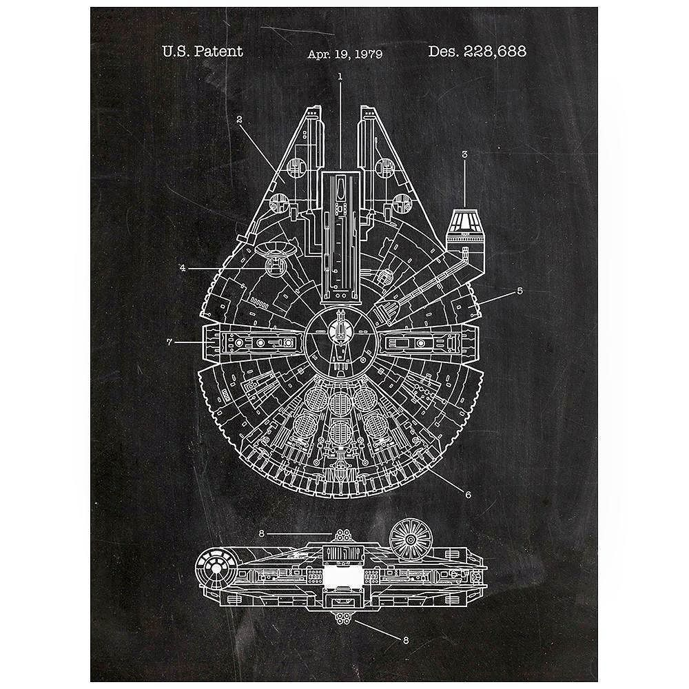 Very cool chalkboardpatent artblueprints designed starwars very cool chalkboardpatent artblueprints designed starwars posters falcon at at more httpamzn1ocuuaw starwars millenniumfalcon atat slave1 malvernweather Image collections