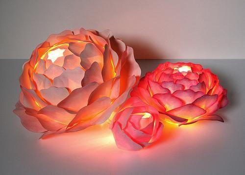 Paper Flower Centerpieces Zipper 8 Lighting Rose