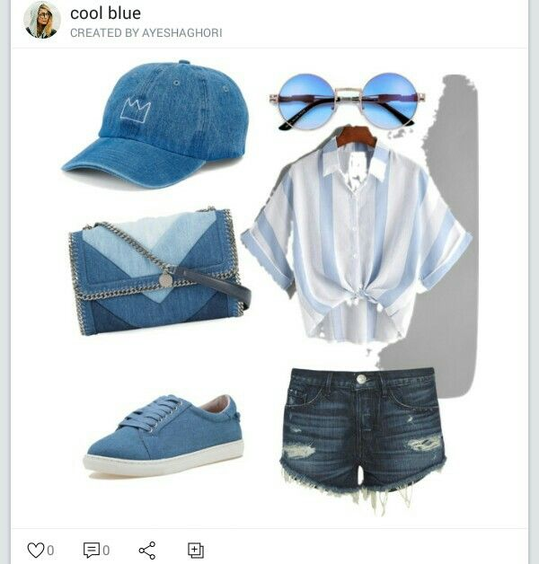 Cool blue on Polyvore