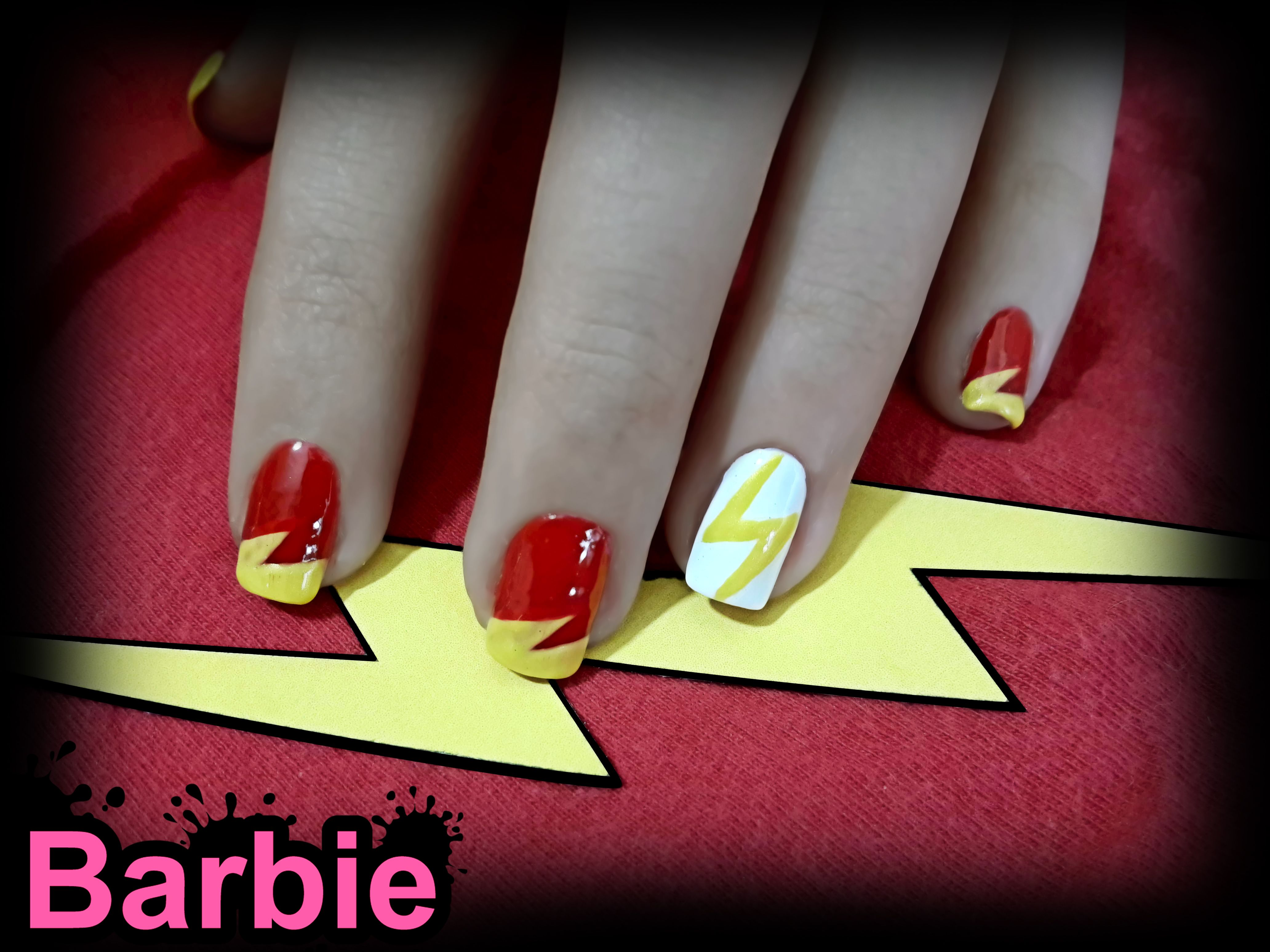 Flash Nails - Nail design of the superhero from the fictional comic ...