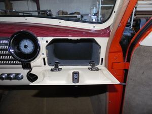 The Hinges Of The Glove Box Door Had To Be Replaced With Modern Flip Out Hinges To Accommodate Clearance W Classic Car Restoration Car Restoration Classic Cars