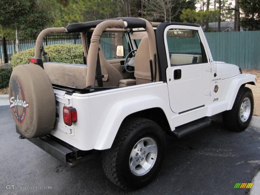 Stone White 2001 Jeep Wrangler Sahara 4x4 Exterior Photo #43429941
