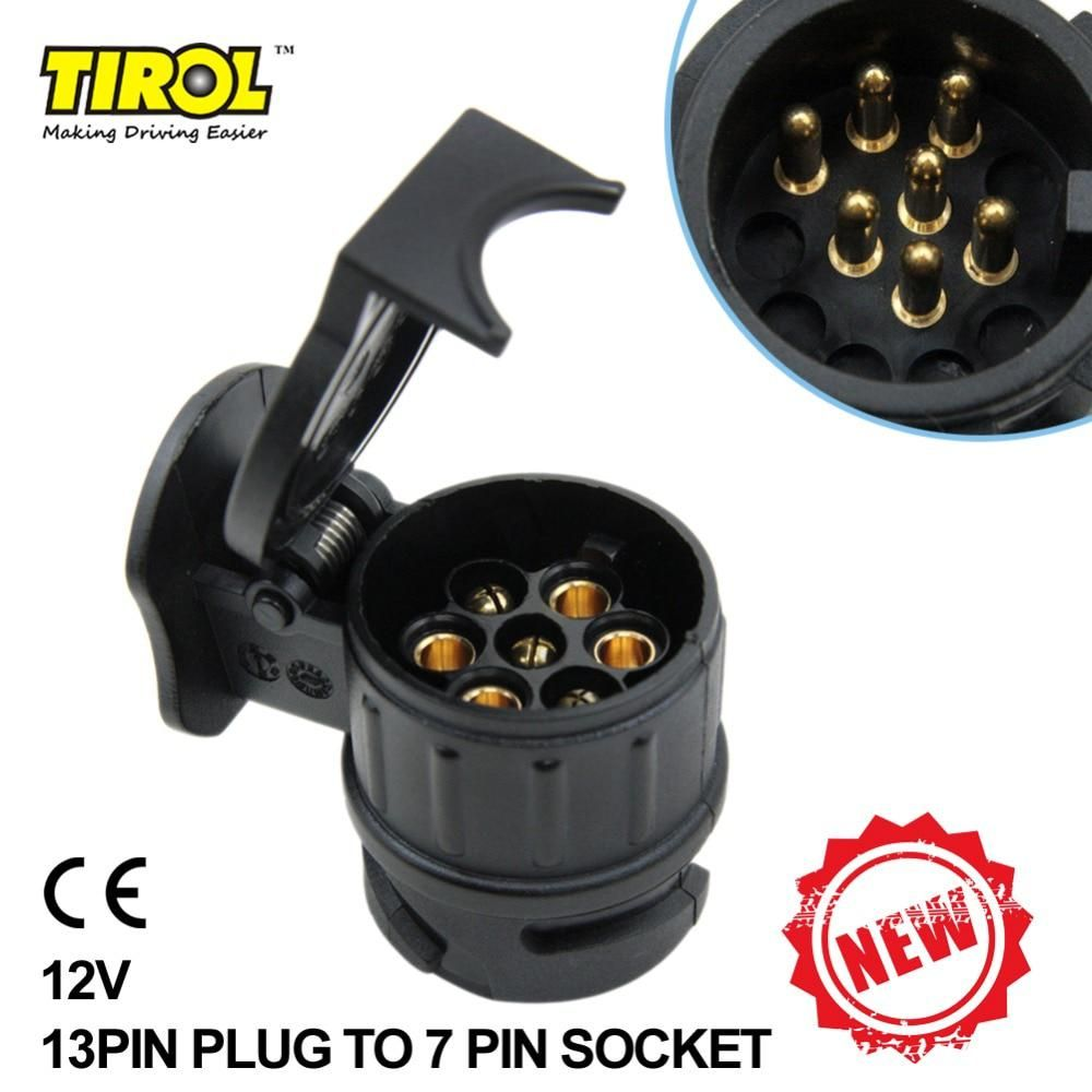medium resolution of tiro 13 to 7 pin trailer adapter black frosted materials trailer wiring connector 12v towbar towing plug n type t22775b yesterday s price us 4 26 3 73