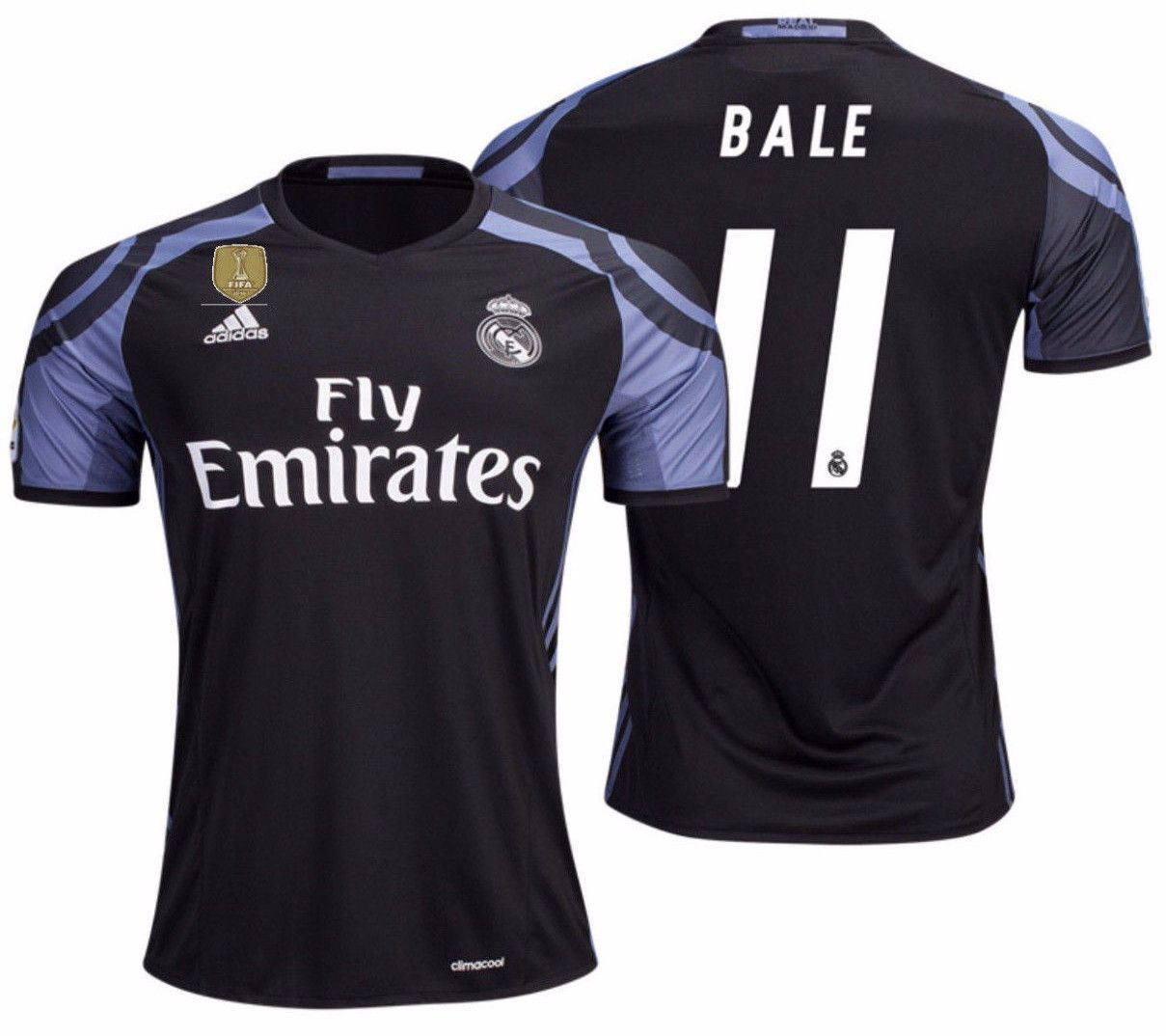 Adidas gareth bale real madrid third jersey 2016 17 cwc fifa patch ... df7dcada9