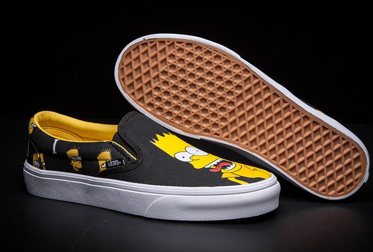 3fd80bfa98 Vans X Simpsons Bart And Lisa Print Slip-on Skate Shoes  Vans