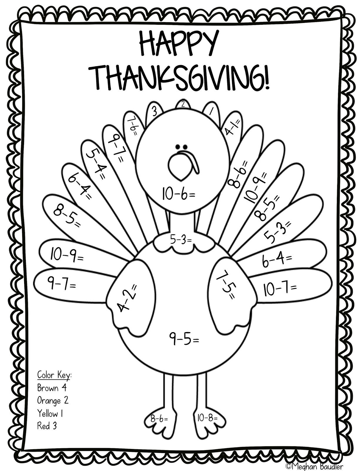 10 Color By Number Worksheet Turkey Edea Smith