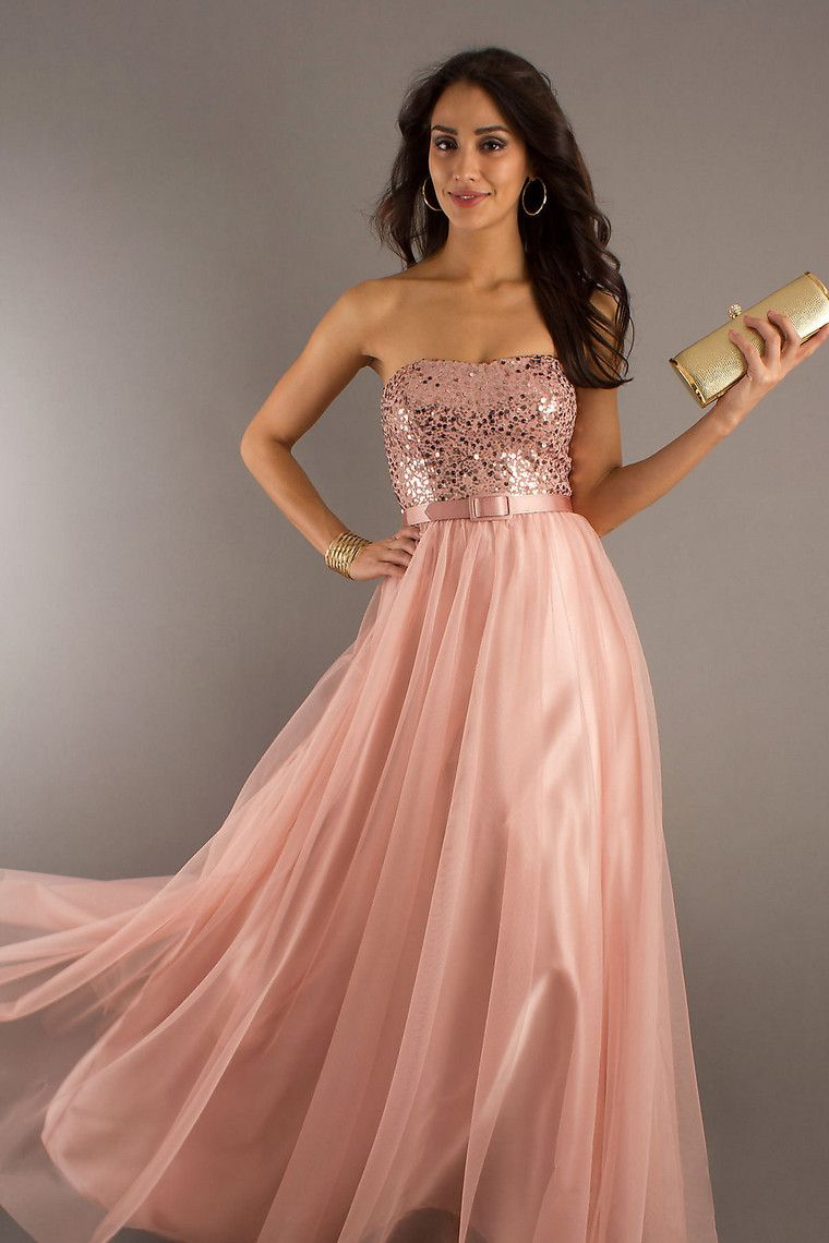 Glamorous & Dramatic Hot Selling Prom Dresses A Line Beading/Sequins ...