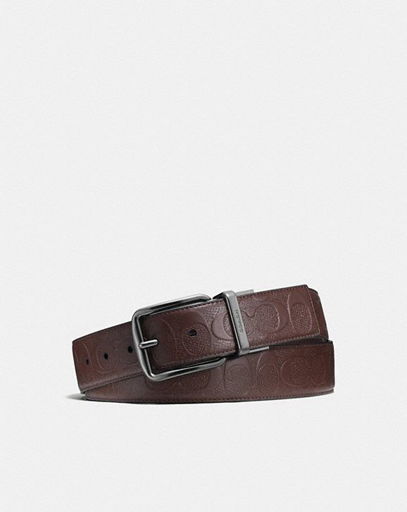 f5a12d2dcb3 Coach Wide Harness Cut-To-Size Reversible Belt in Signature Leather ...
