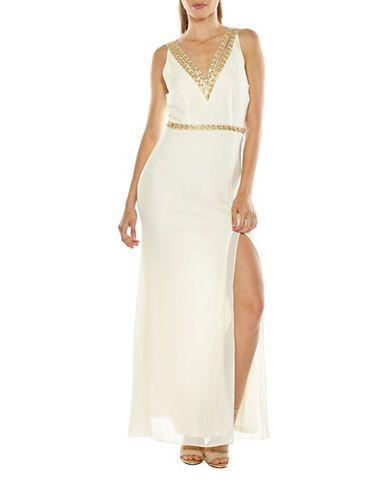 Women Evening Gowns Celine Beaded V Neck Maxi Dress Hudsons