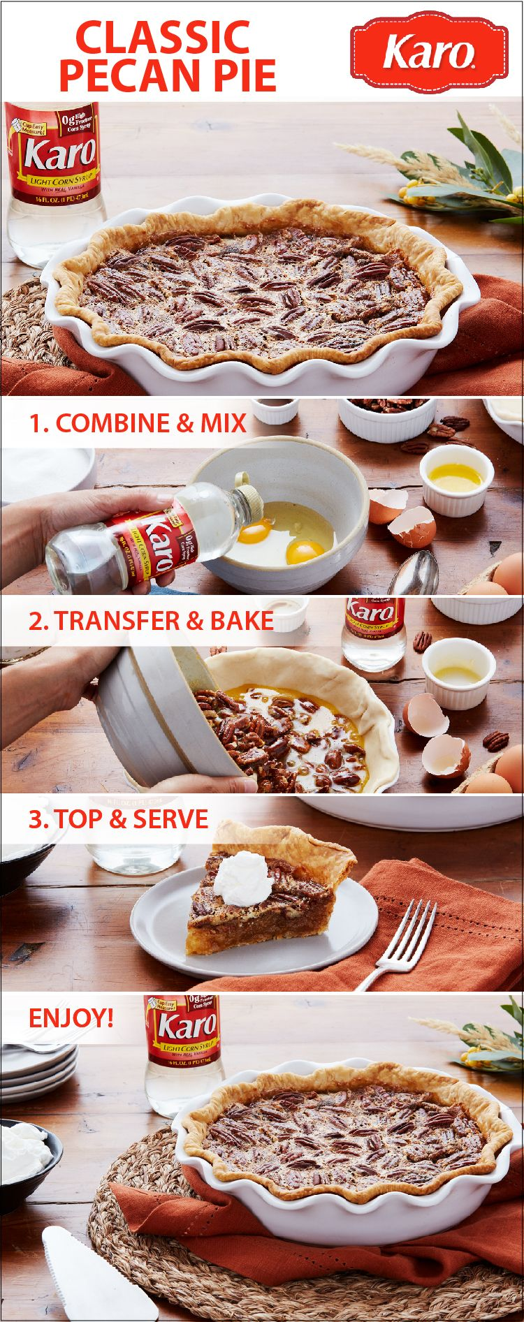 Prepare This Easy Classic Pecan Pie Recipe In 5 Minutes Or Less And Three Easy Steps Perfect For Thanksgiving Desserts Pecan Pie Recipe Thanksgiving Desserts