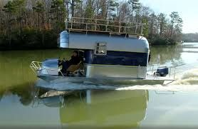 Image Result For Trailerable Houseboats For Sale Camper Boat Shanty Boat Trailerable Houseboats