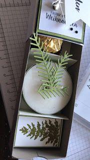 Stempelgarten: dreigeteilte Weinachts-Schiebe-Schachtel mit Anleitung #onglenoel2019