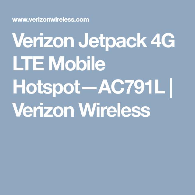 AC791L Verizon Wireless Verizon Jetpack 4G LTE Mobile Hotspot