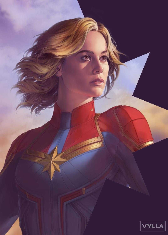 Carol 11x17 Marvel Captain Marvel Captain Marvel Carol Danvers