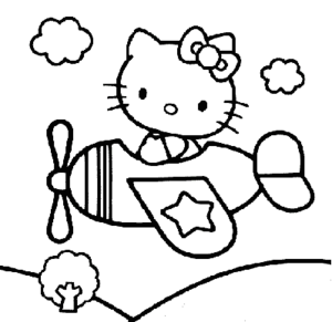 The Sophisticated Transportation Of Airplane Coloring Pages Printable Kids Colouring Pages Hello Kitty Coloring Hello Kitty Colouring Pages Kitty Coloring