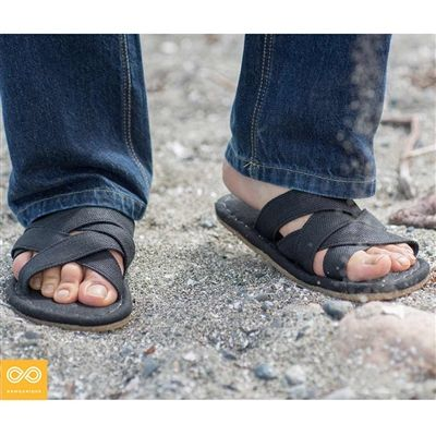 c6513b307b709 The handmade Montagne Organic European Cannabis Hemp Crossover Sandals  feature hemp uppers