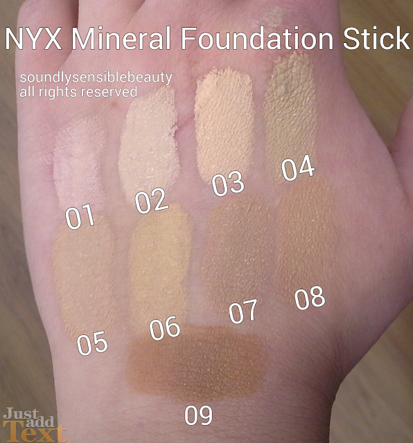 Nyx Mineral Foundation Stick Review Shades Stick Foundation Nyx Foundation Stick Foundation Swatches