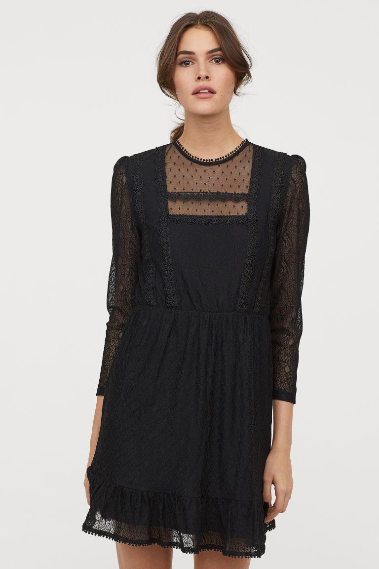 Kanten Jurk In 2019 H M Lace Dress Black Lace Dress En