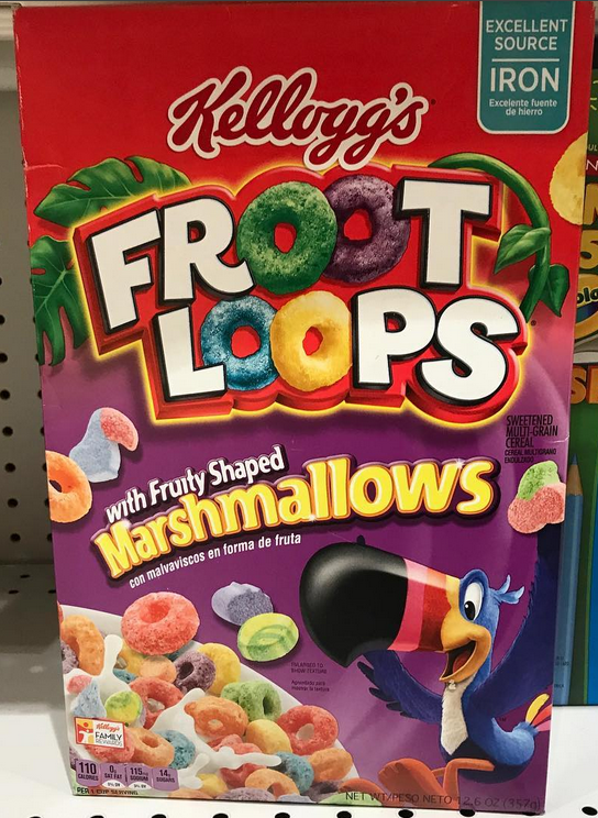 Kellogg S Froot Loops With Fruity Shaped Marshmallow Grocery Foods Kids Cereal Granola Cereal