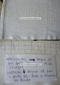 Trocas de Linhas: BORDADO DESFIADINHO- COM PASSO A PASSO!!!!