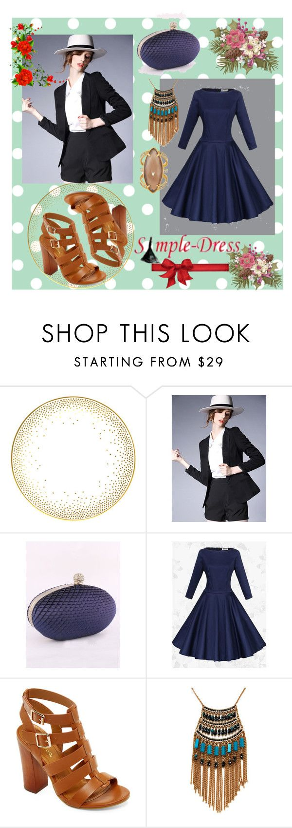 """""""SIMPLEDRESS #25"""" by nizaba-haskic ❤ liked on Polyvore featuring Kelly Wearstler, Bamboo, Leslie Danzis and Henri Bendel"""