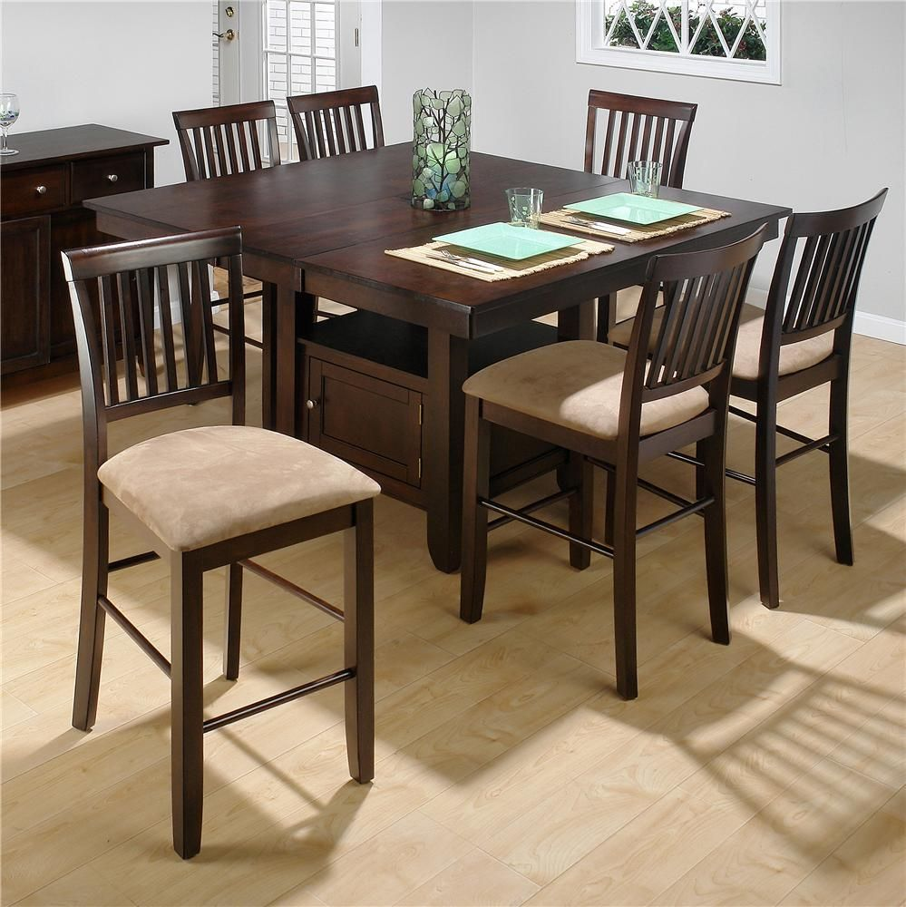 Bakery S Cherry Table And 4 Barstools By Jofran Kitchen Table With Storage Counter Height Dining Table Tall Kitchen Table