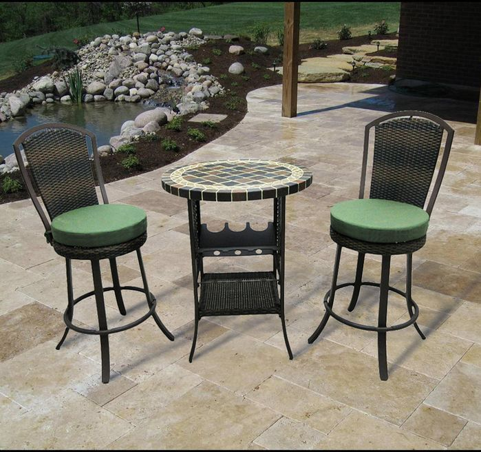 stoneham 3 piece bar height dining set master balcony bar table rh pinterest com