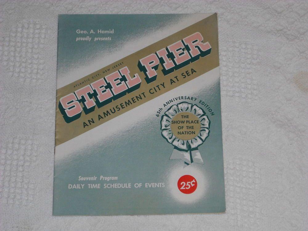 ATLANTIC CITY Steel Pier 1962 Souvenir Program (Dion/Brenda Lee