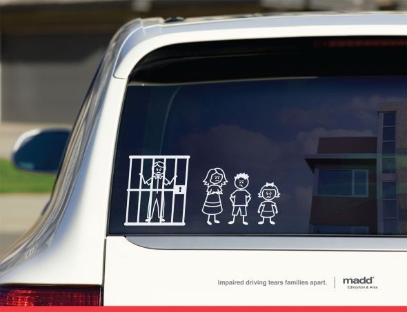 In Canada Stick Figure Decals Representing Family Members Are - Rear window decals for trucks canada