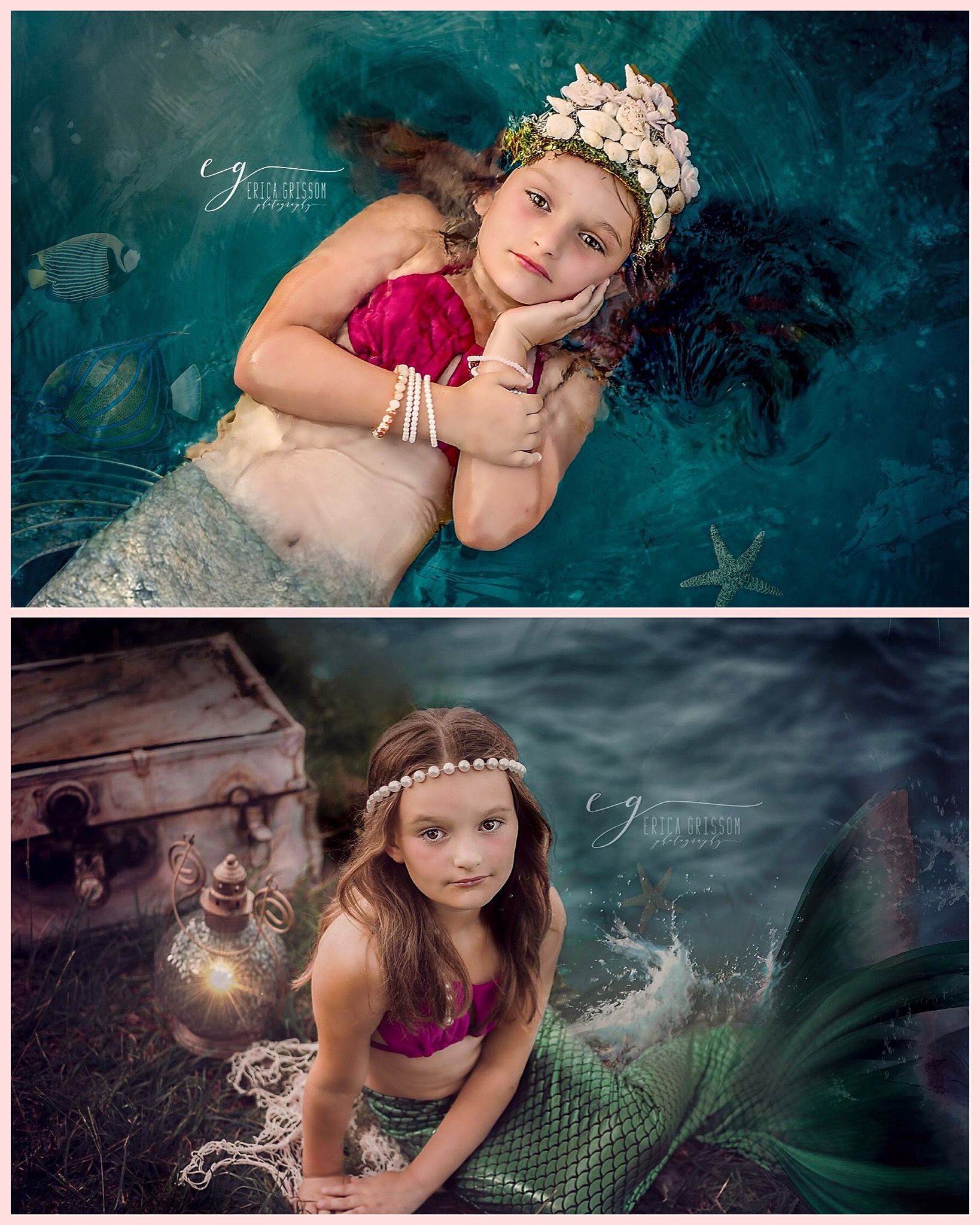 русалка в фотостудии обои