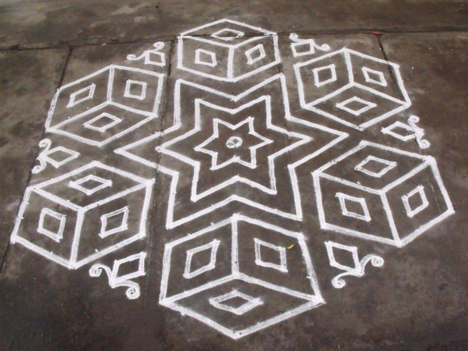 Simple Kolam design.......... (With images) Rangoli