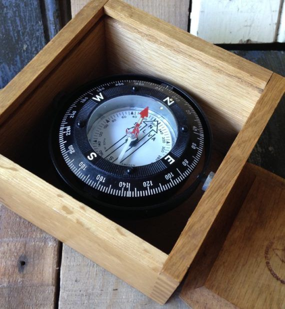 Silva Boxed Gimbal Compass 1980 Sweden Compass Boxed Inside The Box