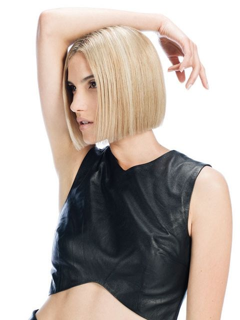 blunt chin-length bob beautiful