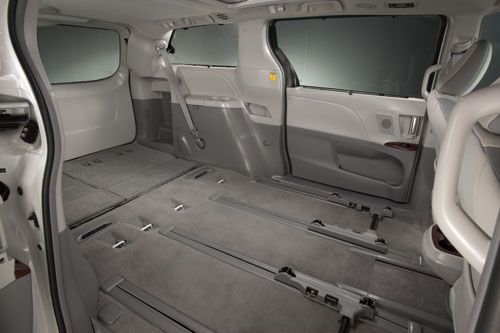 Fold Down The Back Seats For The Ultimate Storage Space Toyota Sienna Toyota Sienna Mini Van Toyota Sienna Interior