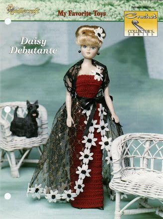 Crochet Collector/'s pattern leaflet Daisy Debutante ~ fits Barbie dolls
