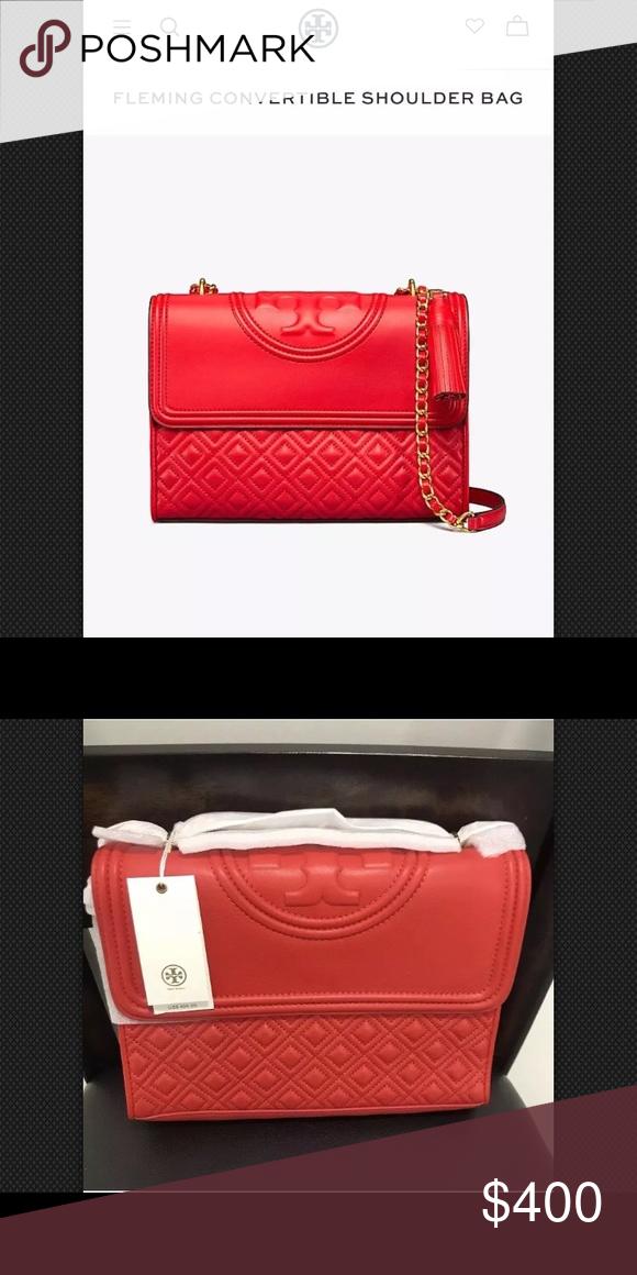 1b7b6bdace8 Spotted while shopping on Poshmark  Fleming Large Convertible Shoulder Bag  43834 Red!  poshmark  fashion  shopping  style  Tory Burch  Handbags