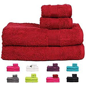 Buy This Amazing Casa Basics Bath And Hand Towels Set In Red For