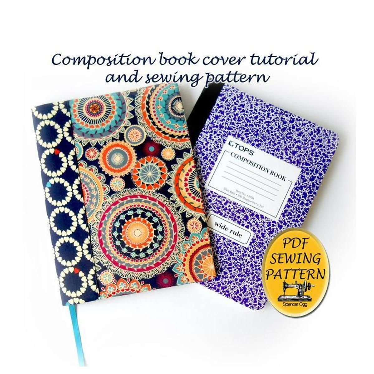 Composition book cover tutorial composition notebook