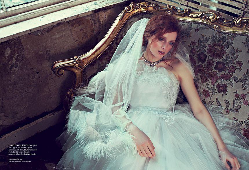 wedding dress: David fielden, veil/necklace: Net-a-Porter | wedding ...