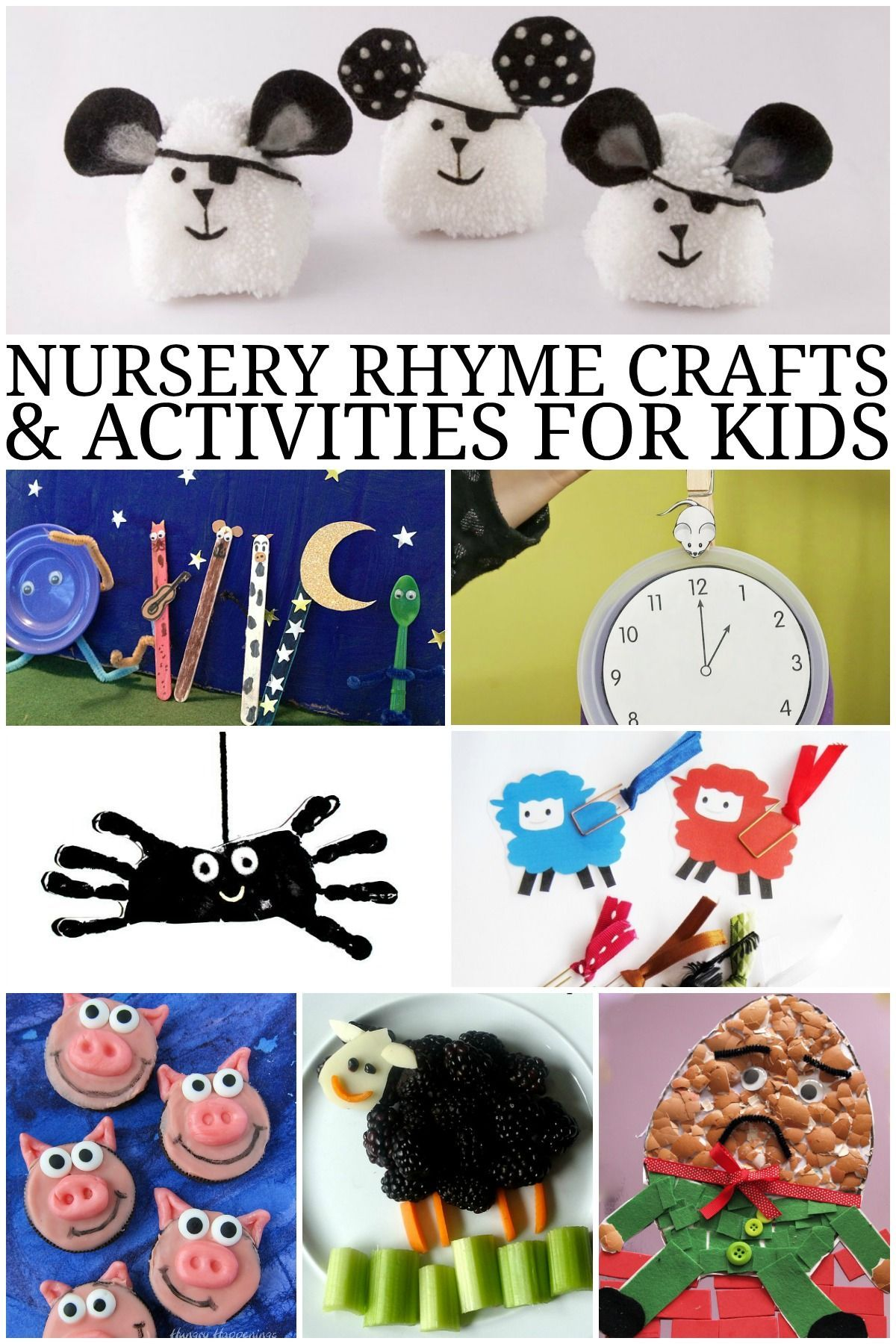 Nursery Rhyme Crafts And Activities For Kids With Images