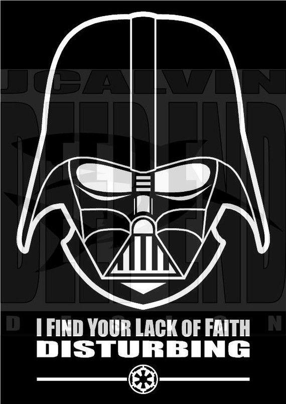 """I Find Your Lack of Faith Disturbing"" - Darth Vader Star Wars T-shirt - $21 - http://www.goreydetails.net/shop/index.php?main_page=product_info=58_id=4679=m2esk5hrtdpkff62hffvpi7o07"