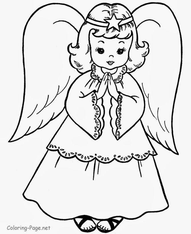 Art Sanalia Riscos De Anjos Lindos Paginas Para Colorir Natal