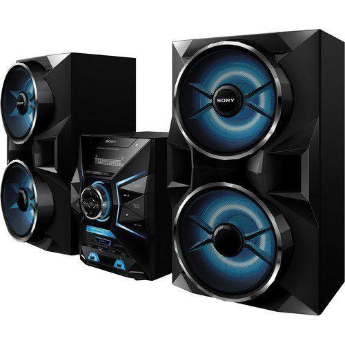 Sony 1800 Watt Bluetooth Micro Hi Fi Am Fm Radio Stereo Sound System With Dual Usb Amp Auxiliary Inputs Hifi Music System Music System Wireless Music System