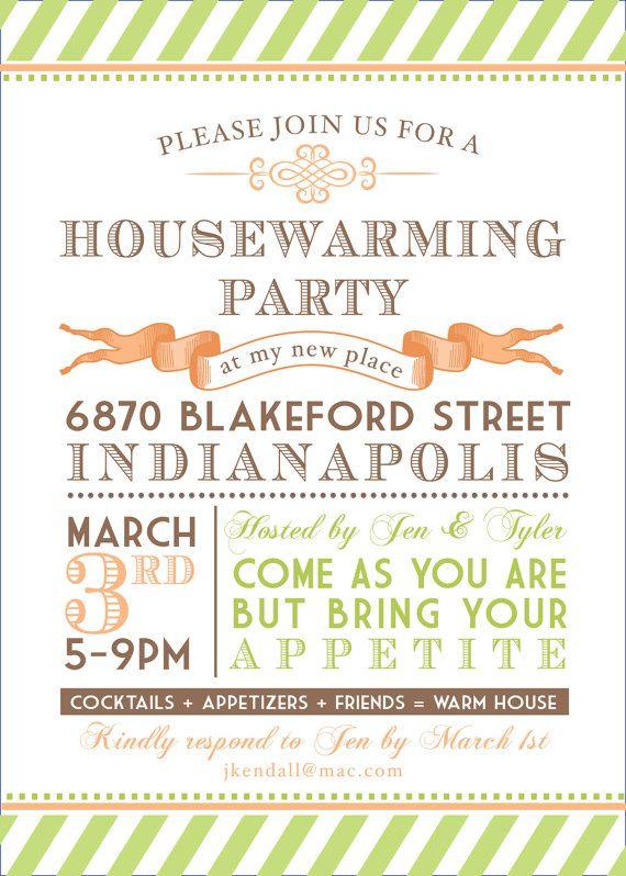 Printable Bridal Shower Suite Housewarming Party by lemonseedandco - housewarming invitation template