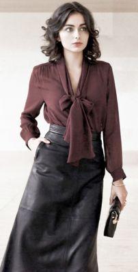 54569180548 Блузка с бантом. Как выбирать и с чем носить