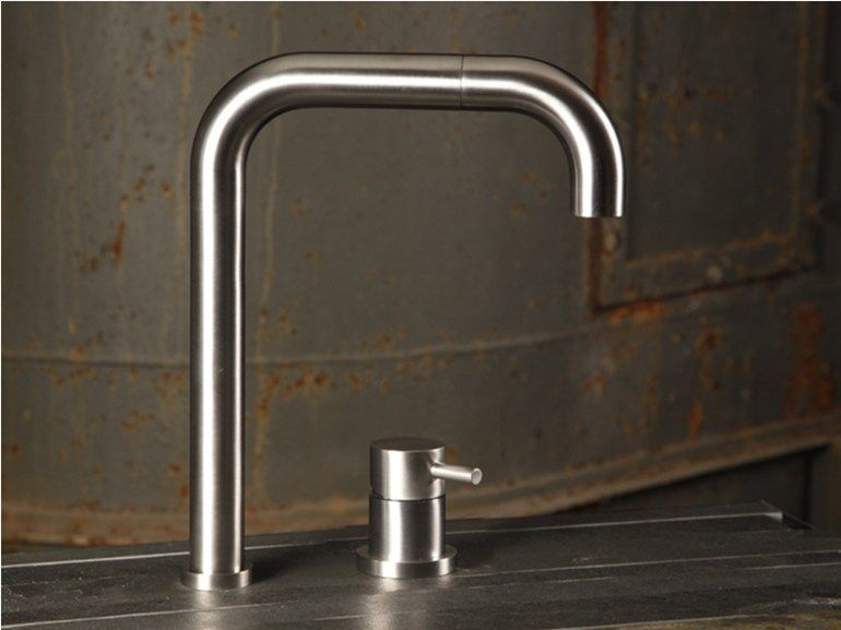 2 Hole Kitchen Tap With Pull Out Spray Tide By Mina